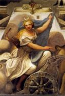 Parma, Correggio, Camera di San Paolo, particolare Diana.